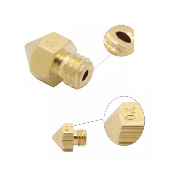 Bico Cabeça de Impressão 4mm Extrusor MK8 Printer Nozzle Impressora 3D 1.75mm Abs Pla