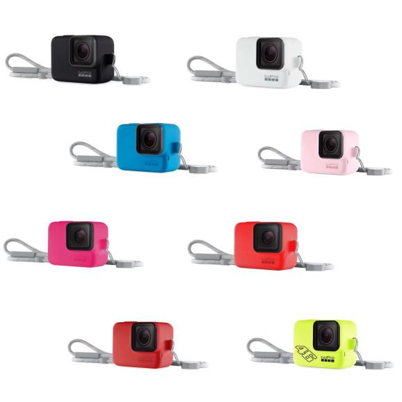 Capa Silicone GoPro Hero 7 6 5 Black + Cordão Ajustável - Sleeve + Lanyard
