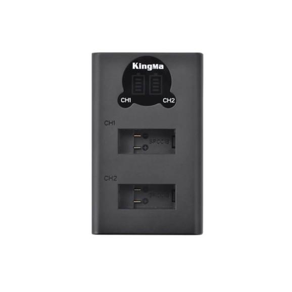 Carregador Duplo para Câmera GoPro MAX - KingMa