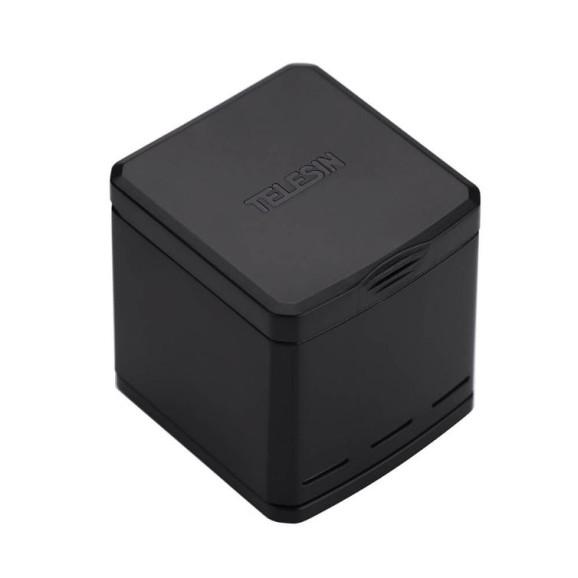 Carregador GoPro 5 6 7 8 Black e Hero 2018 - Carregador Triplo Telesin