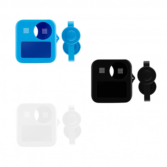 Case de Silicone para GoPro MAX 360 + Tampas para Lentes - Telesin