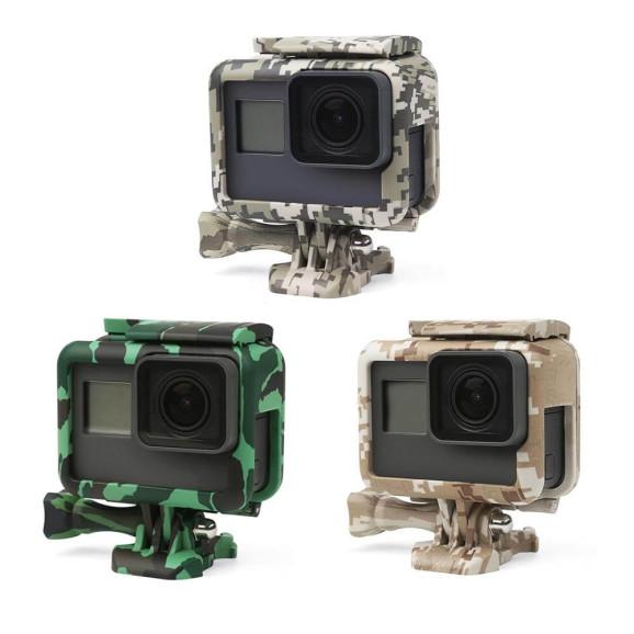 Suporte Frame para GoPro Hero 5 6 7 Black 7 White 7 Silver Camuflado