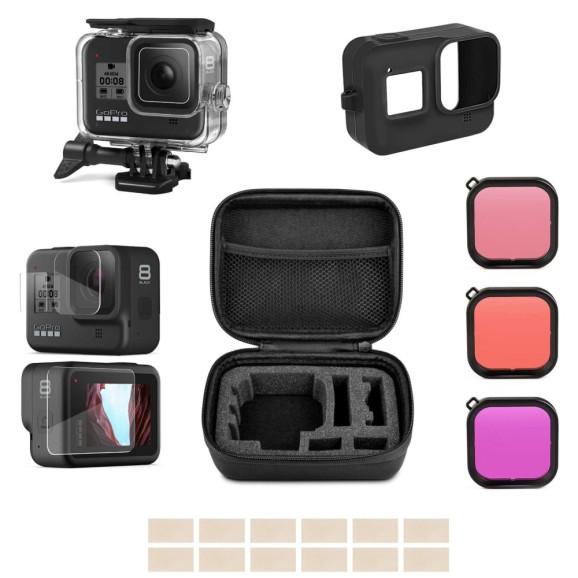 Kit de Acessórios para GoPro Hero 8 Black com 8 Itens
