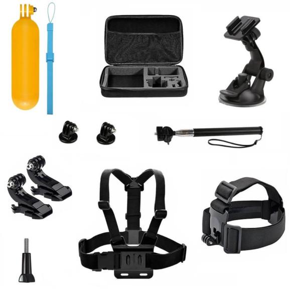 Kit de Acessórios para GoPro e Câmeras Similares com 11 Itens