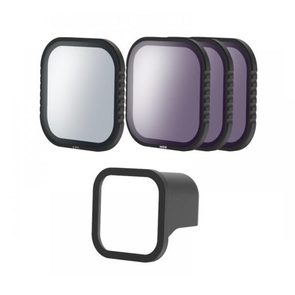 Kit de Filtros ND e CPL para GoPro Hero 8 Black - Telesin