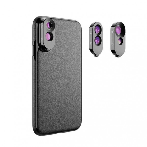 Kit de Lentes + Case para iPhone XS Max Apexel
