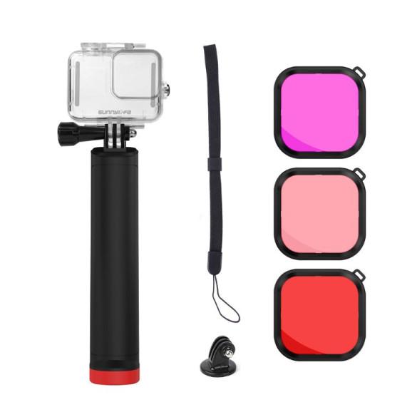 Kit de Mergulho para GoPro Hero 8 Black - Sunnylife (Caixa Estanque + Filtros + Bastão)