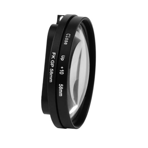 Lente Macro para Caixa Estanque GoPro Hero 7 6 5 Black 58mm 10x