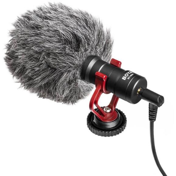 Microfone Externo para GoPro / Câmeras DSLR / Celular - BOYA BY-MM1