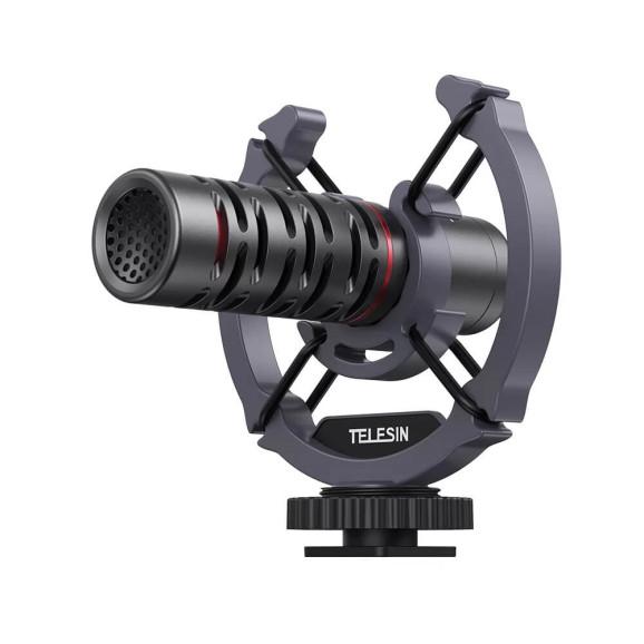 Microfone Externo Shotgun para Câmeras e Celulares - Telesin