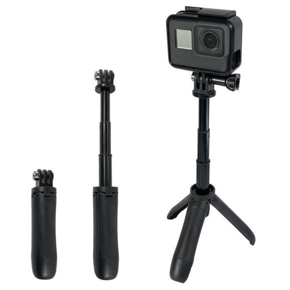 Mini Bastão de Mão Tripé para GoPro e Câmeras Compactas