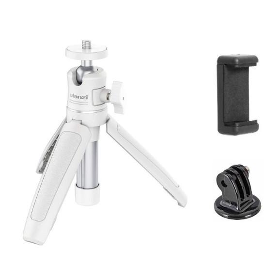 Mini Tripé e Bastão para Celular / GoPro / Câmeras DSLR - Ulanzi Cor Branco