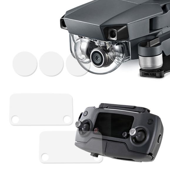 Película Protetora Tela Controle e Lente Câmera Drone Dji Mavic Pro