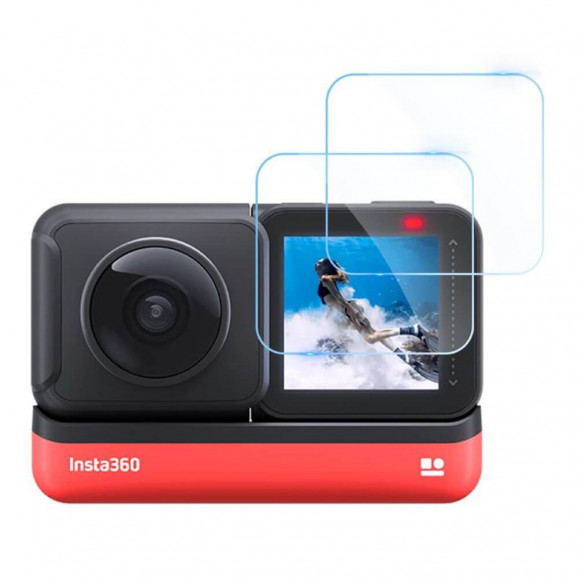Película para Tela Câmera Insta360 One R Vidro Temperado - Telesin