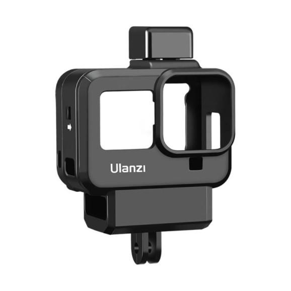 Suporte Frame GoPro Hero 8 Black com Encaixe Adaptador Microfone Externo - Ulanzi