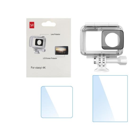 Conjunto de Películas Proteção Para Tela Lcd e Lente da Câmera Xiaomi Yi 2 4k