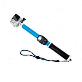 Bastão de Selfie para GoPro e Câmeras Similares em Alumínio Cor Azul