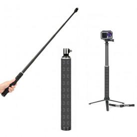 Bastão de Selfie com Tripé para GoPro e Câmeras Similares Telesin 90cm
