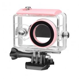 Caixa Estanque Para Câmera Xiaomi Yi 2K A Prova D'água Cor Rosa