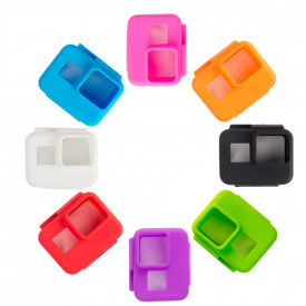 Capa Case Silicone GoPro Hero 7 6 5 Black Uso Com Frame de Montagem