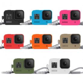 Capa Silicone GoPro Hero 8 + Cordão Ajustável - GoPro Sleeve + Lanyard