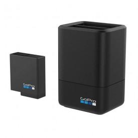 Carregador GoPro Hero 8 7 6 5 Black - Carregador Duplo + 1 Bateria AADBD-001