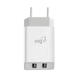 Carregador de Parede Universal Duplo USB Bivolt Carga Rápida - ELG