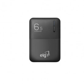 Carregador Portátil Power Bank 6500mAh com Cabo Micro USB - ELG PB65