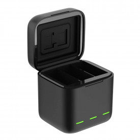 Carregador Triplo para GoPro Hero 9 Black - Telesin Box Design