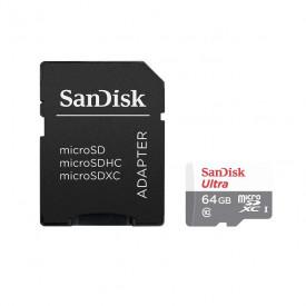 Cartão de Memória 64GB SanDisk Ultra MicroSDHC C10 UHS-I 80MB/s