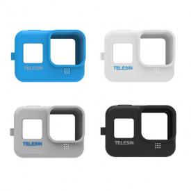 Capa de Silicone para GoPro Hero 8 Black + Cordão Ajustável Telesin