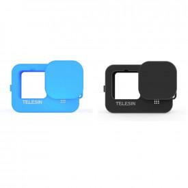 Capa de Silicone para GoPro Hero 9 Black + Cordão + Tampa - Telesin