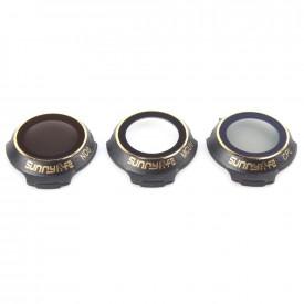 Conjunto 3 Filtros para Drone DJI Mavic Pro ND8 MCUV CPL Sunnylife