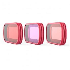 Filtros de Mergulho para DJI Osmo Pocket Pgytech (Snorkel + Vermelho + Magenta)