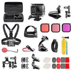 Kit de Acessórios para GoPro Hero 8 Black com 24 Itens