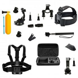 Kit de Acessórios para GoPro e Câmeras Similares com 14 Itens