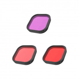 Kit Filtros de Mergulho para Caixa Estanque GoPro Hero 9 Black - Telesin