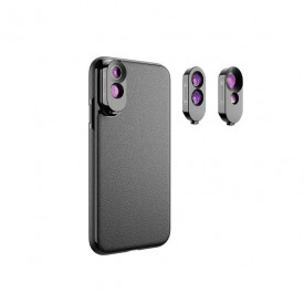 Kit de Lentes + Case para iPhone X / XS Apexel