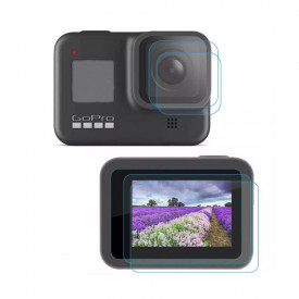 Kit Películas para GoPro Hero 8 Black Vidro Temperado - Telesin (2 unid)