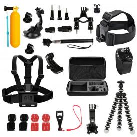 Kit de Acessórios com 25 Itens para Câmeras GoPro e Similares