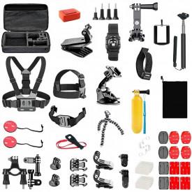 Kit de Acessórios com 50 Itens para Câmeras GoPro e Similares