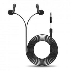 Microfone Duplo de Lapela para GoPro / Câmeras / Celular - Sairen D-Lav