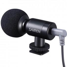 Microfone Externo Supercardioide para Câmeras e Celulares - Sairen Nano