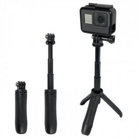 Mini Bastão de Mão e Tripé para GoPro e Câmeras Compactas