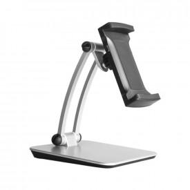 Suporte Base de Mesa para Tablet e Celular - Cor Prata