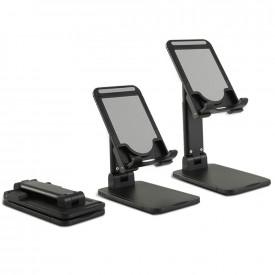 Suporte de Mesa Universal para Celular e Tablet - Cor Preto