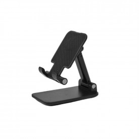 Suporte de Mesa Universal para Tablet e Celular - Cor Preto