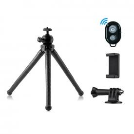 Tripé Articulado para Celular e Câmeras com Controle Disparador Bluetooth