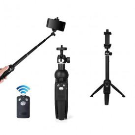 Tripé e Bastão para Celular com Controle Disparador Bluetooth - Yunteng YT-9928