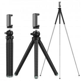 Tripé Extensível para Câmeras DSLR e Celular Apexel